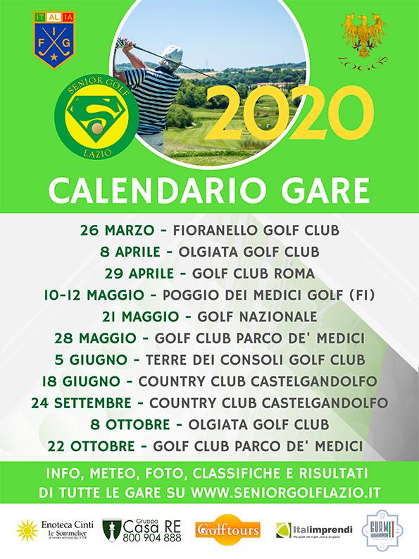 Senior Golf Lazio Calendario Gare 2020